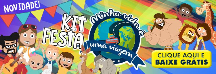 Kit  Festa Minha Vida é uma viagem