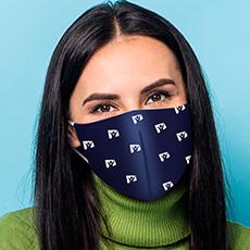 Máscara Dupla Face Reutilizável  Anatômica  Vários Logos