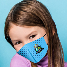 Máscara Dupla Face Reutilizável  Anatômica Infantil