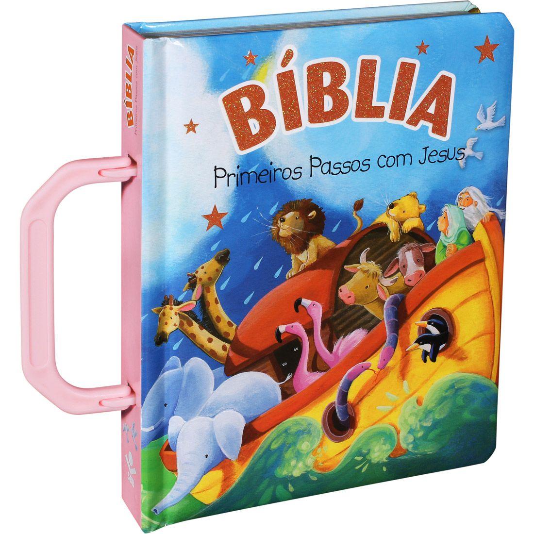 Bíblia Primeiros Passos com Jesus - Rosa